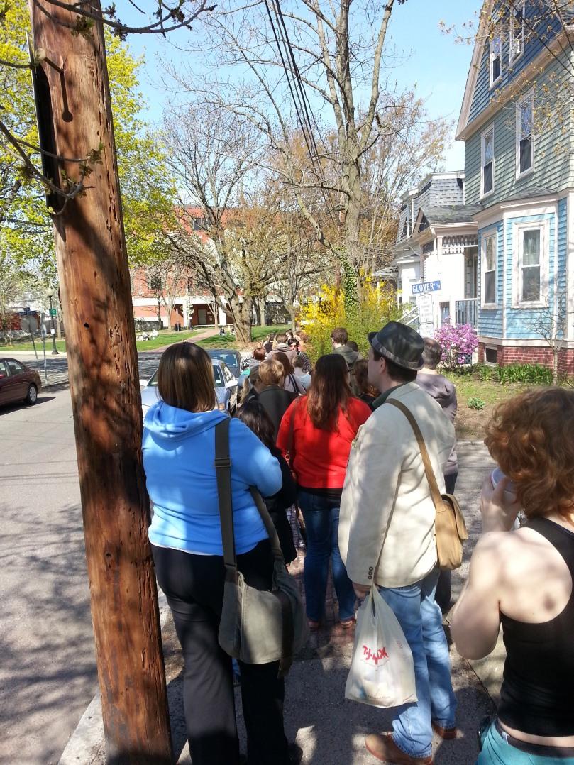 crowd waiting to see #iffboston